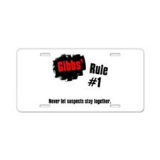 NCIS Gibbs' Rules #1 Aluminum License Plate