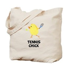 Tennis Chick Tote Bag