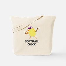 Softball Chick Tote Bag