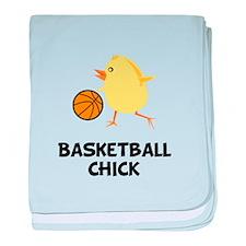 Basketball Chick baby blanket