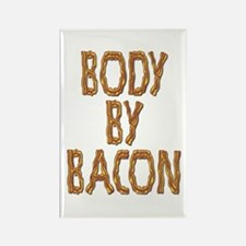 Body By Bacon Rectangle Magnet