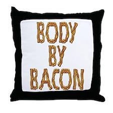 Body By Bacon Throw Pillow