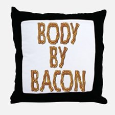 Body By Bacon Throw Pillow