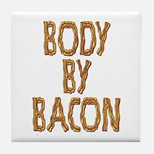 Body By Bacon Tile Coaster