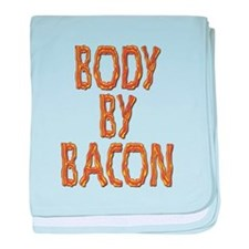 Body By Bacon baby blanket