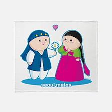 Seoul Mates Throw Blanket