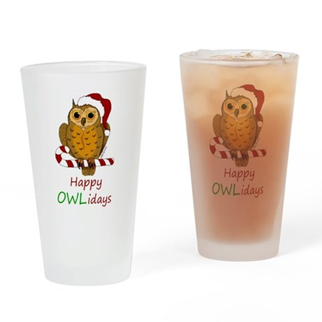 OWLiday Drinking Glass