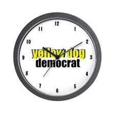 Yellow Dog Democrat Wall Clock