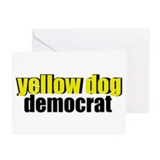Yellow Dog Democrat Greeting Cards (Pk of 10)