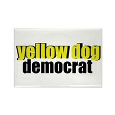 Yellow Dog Democrat Rectangle Magnet