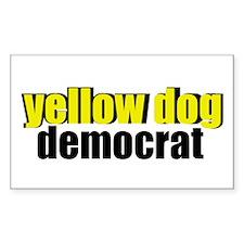 Yellow Dog Democrat Decal