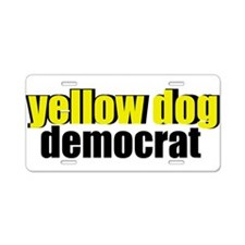 Yellow Dog Democrat Aluminum License Plate