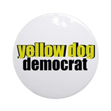 Yellow Dog Democrat Ornament (Round)