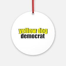 Yellow Dog Democrat Ornament (Round)