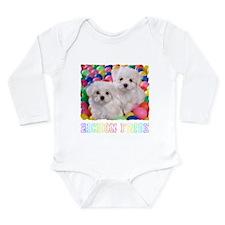 BICHON FRISE BALL PIT Long Sleeve Infant Bodysuit