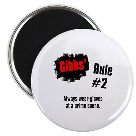 """NCIS Gibbs' Rules #2 2.25"""" Magnet (10 pack)"""