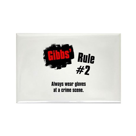 NCIS Gibbs' Rules #2 Rectangle Magnet (10 pack)