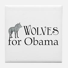 Wolves for Obama Tile Coaster
