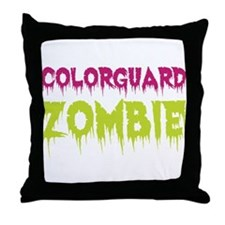 Colorguard Zombie Throw Pillow
