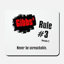 NCIS Gibbs' Rules #3 V2 Mousepad