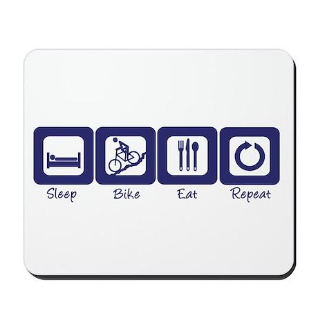 Sleep- Bike- Eat- Repeat Mousepad