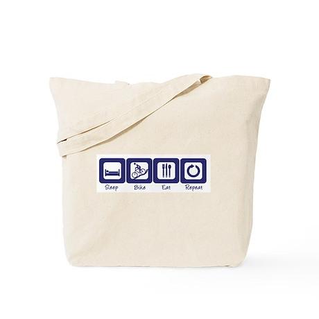 Sleep- Bike- Eat- Repeat Tote Bag