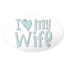 I heart my Wife Decal