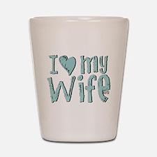 I heart my Wife Shot Glass