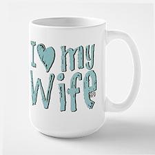 I heart my Wife Large Mug