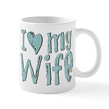 I heart my Wife Small Mug