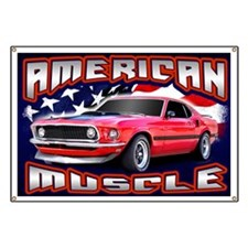 American Muscle - Mustang Banner