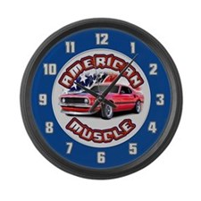 American Muscle - Mustang Large Wall Clock