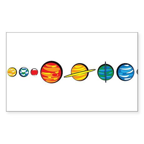 Pluto Who? Sticker (Rectangle 10 pk)