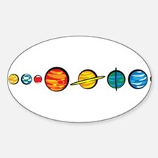 Pluto Who? Sticker (Oval)