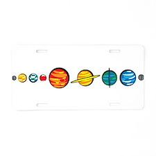 Pluto Who? Aluminum License Plate