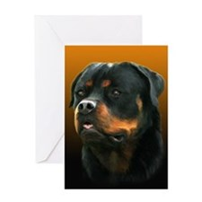 Regal Rottweiler Greeting Card