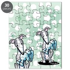 Rabbit Lover Greyhound Puzzle
