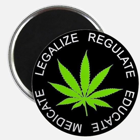 LREM round sticker green2 Magnets