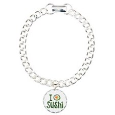 I Heart Sushi Charm Bracelet, One Charm