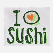 I Heart Sushi Throw Blanket