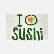 I Heart Sushi Rectangle Magnet