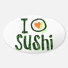 I Heart Sushi Sticker (Oval)