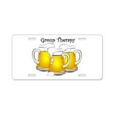 Beer Therapy Aluminum License Plate