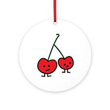 Happy Cherries Ornament
