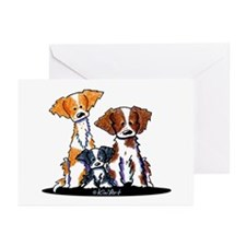 Brittany Trio Greeting Cards (Pk of 10)