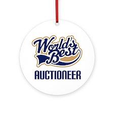 Auctioneer Gift (Worlds Best) Ornament (Round)