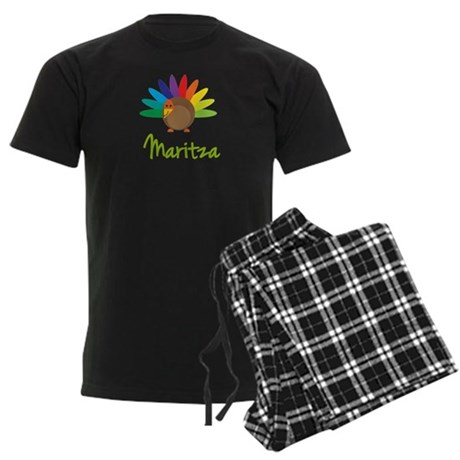 Maritza the Turkey Men's Dark Pajamas