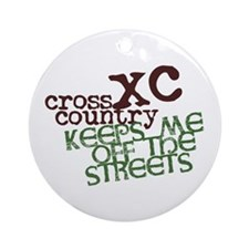 XC Keeps off Streets © Round Ornament