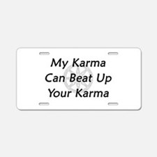 Karma Beat Down Aluminum License Plate