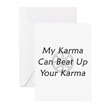 Karma Beat Down Greeting Cards (Pk of 20)